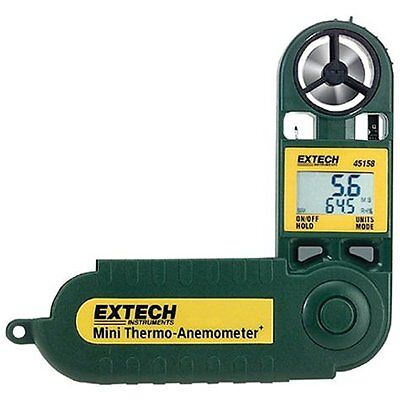 45158 Airflow & Air Quality Mini Waterproof Thermo Anemometer And Humidity Meter