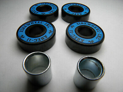 4 x ABEC 11 SCOOTER SKATEBOARD BEARINGS *NEW* BLUE SHIELDS
