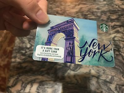 2017 STARBUCKS NYC New York City State Collectible Gift Card New