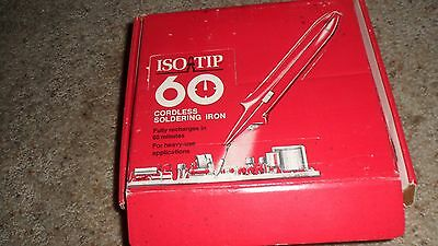 Iso-Tip 60 Cordless Soldering Iron w/ New Tip + Original Box