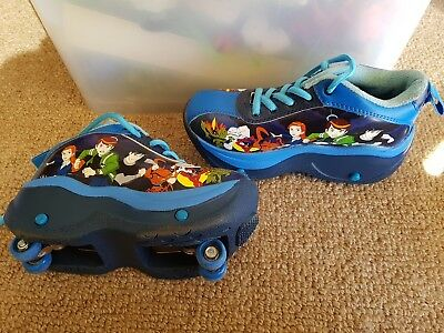Ben 10 Alien Force Roller Skate Shoes. Aus Size 2. Used Twice. Walk Or Skate !