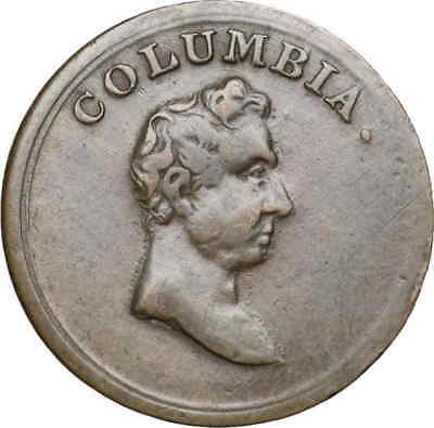 GREAT BRITAIN. Columbia Farthing Token, Early 1800's