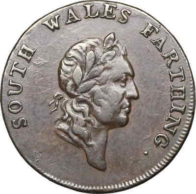GREAT BRITAIN. 1793, South Wales Farthing Conder Token