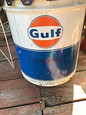 gulf oil collectible metal bucket rare find
