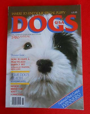 RARE ~ SEALYHAM TERRIER PUPPY Cover Issue ~ DOGS USA Magazine ~ 1986 Annual