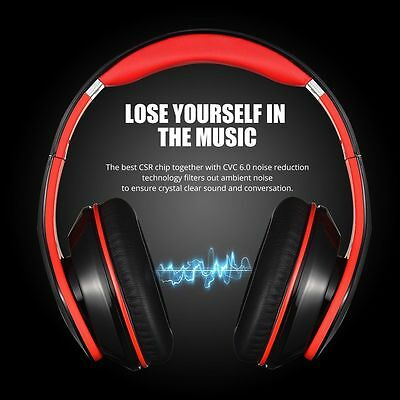 MPOW Bluetooth Headphones Foldable Over ear Stereo HiFi Headset Noise Cancelling