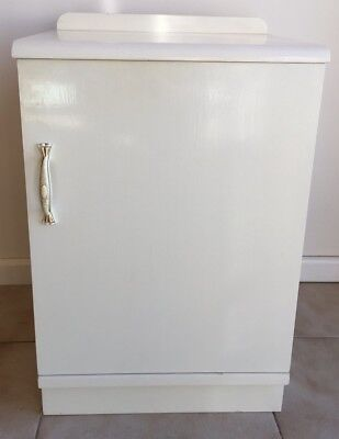 White Solid Timber Vintage/Antique Bedside Cupboard Cabinet-Art Deco, Retro Chic