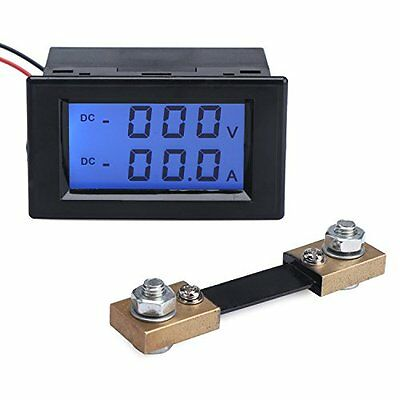 Dual Current Testers Display DC Digital Multimeter Voltage Ampere Meter LCD With
