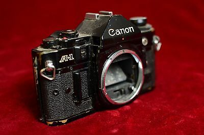 Vintage Canon A-1 35mm film SLR camera body for parts or repair