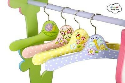 NEW Magic Garden Set of 4 Coat Hangers | Teamson Fantasy Fields | Wardrobe Kids
