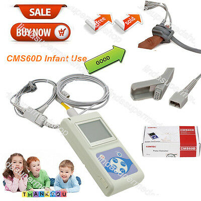 Pediatric/Infant/Kids Born Use Pulse Oximeter Blood Oxygen SPO2 Monitor CE FDA