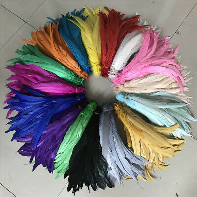 wholesale! 10-100pcs beautiful black cock tail feathers 12-14 inches / 30-35 cm