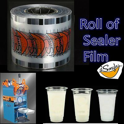 2500 Cups/Roll Smile Cup Sealer Clear Film for Automatic Drink Sealing Machine