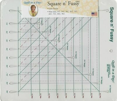 Square n' Fussy Ruler By Quilt in A Day