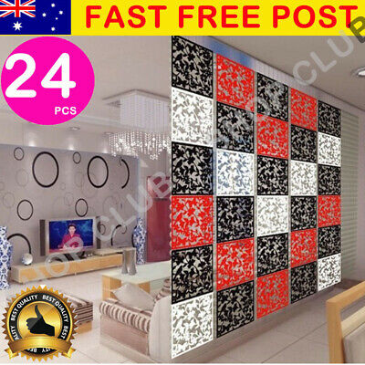 24 x Folding Screen Room Divider Hanging Screens Wall Panels DIY Home Decoration