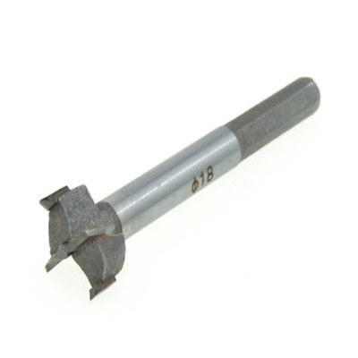 """18mm / 0.71"""" Forstner Auger Wood Drill Bit Tool Woodworking Hole Saw Silver Tone"""