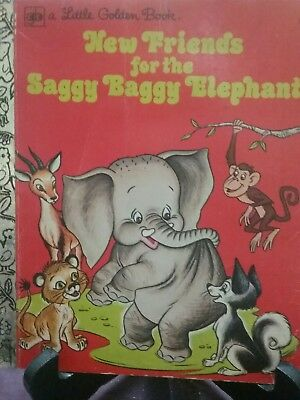 NEW FRIENDS FOR THE SAGGY BAGGY ELEPHANT Little Golden Book 1976 S/C (VGC)