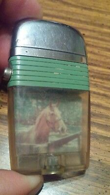 Scripto  Vu-Lighter (Green Band ) Horse photograph inside used very nice used