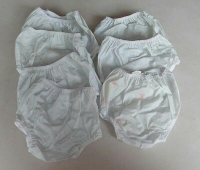 7 PAIR Vintage GERBER Vinyl / Rubber Pants Cloth Diaper Cover SMALL Baby Infant