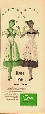 1950 Vintage ad for Cole of California ~pique sun dress/bra~50's Fashion (110713