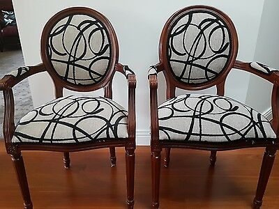 French Louis Chairs (pair) fully restored