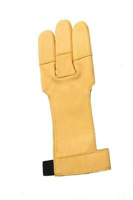 ArcheryMax Yellow Cow Leather Gloves Three Finger Protector For Hunter Shooting