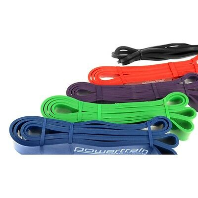 Fitness Exercise Resistance Bands Set of 5 Yoga Workout Loop Training Gym New