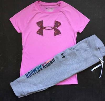 Girl's Size Small (7/8) Purple Shirt & Gray Pants Outfit Nwt