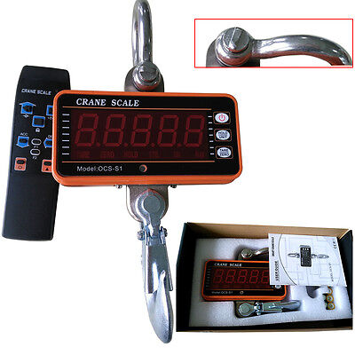1000Kg/1T Electronic Crane Scales Digital Industrial Medical Hanging Weight Led