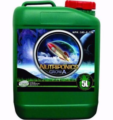 GrowHard Nutriponics Nutrients - Grow A&B - 1L 5L 25L