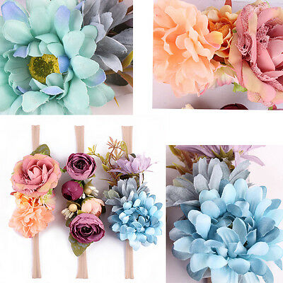 3PCS Cute Kids Baby Girl Toddler Lace Flower Hair Headwear Headband Accessories