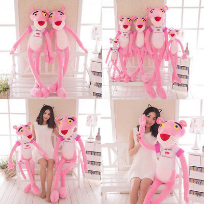 Pink Panther Cartoon Leopard Soft Dolls Stuffed Animal Plush Toy Kids Gift