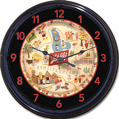 Schlitz Schlitzerland Beer Tray Wall Clock Joseph Schlitz Brewing Co Milwaukee