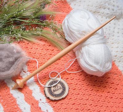 SPINDLE FOR SPINNING NATURAL SIBERIAN CEDAR WOOD for NEEDLEWORK SPINNING #B20