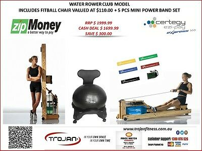 Water Rower Club Model Includes Fitball Chair Valued At $110.00 + 5 Pcs Mini Pow