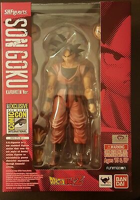 2017 SDCC Bluefin Bandai Tamashii Nations S.H. Figuarts Goku Kaiohken Version