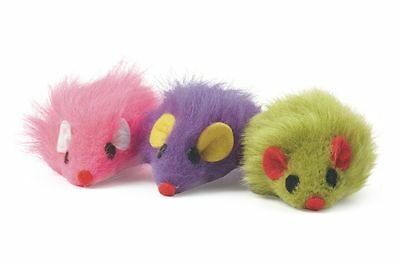 Cat Toy - Furry Mice With Catnip - Mouse (set of 3)