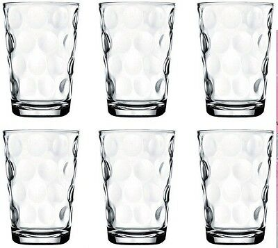 Pasabche Polka Dot Glass Tumbler Set Stackable Juice Water Glasses Set of 6