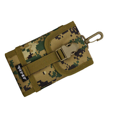 Universal Cell Phone Pouch MOLLE Camo Belt Loop Bag Hook Mobile Case Holster