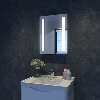 700x500mm Bathroom LED Illuminated Mirror Touch Switch Wall mounted