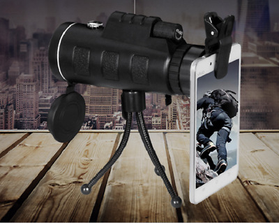 Day Night Vision 40x60 Travel HD Dual Focus Optical Prism Monocular Telescope