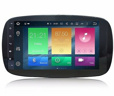 "9"" Android 6.0 Car GPS Radio for Smart Fortwo W453 2014-2017 Octa Core 32G 2Gb"