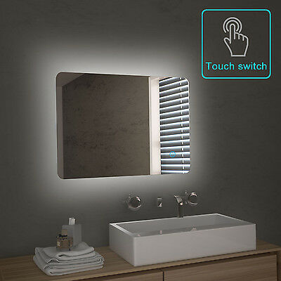 700/800x500mm Bathroom LED Illuminated Mirror Touch Switch High definition