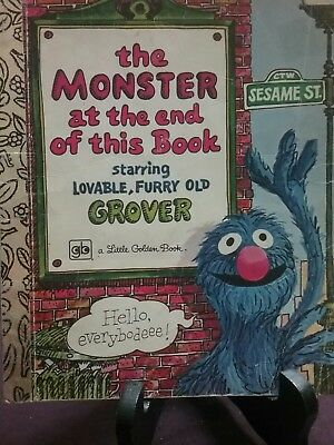 THE MONSTER AT THE END OF THE BOOK Little Golden Book 1978 S/C * VGC