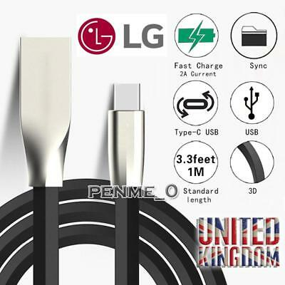 Type C 3.1 Usb-C 3D Alloy Cable Data Sync Charger Lead For Lg G5/g5 Se/g6