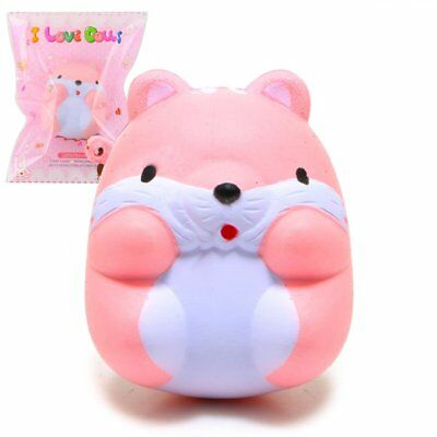 Kawaii Squishy Hamster  I-Bloom Pom Pom Squeeze Stress Scented Slow Rising Toy