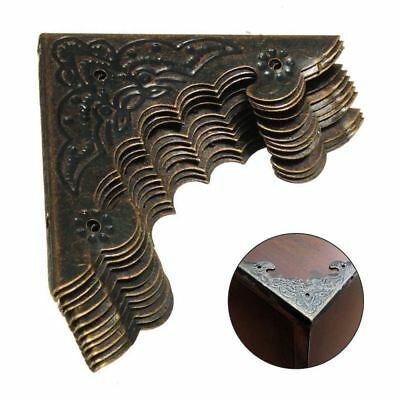 Box Legs Corner Flower Pattern Carved Crafts Decorative Bottom Foot Protector