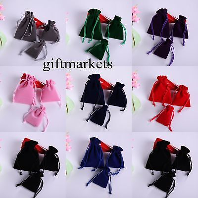 10 20 50 100 Velvet Bags Jewelry Wedding Party Favor Gift Drawstring Pouches