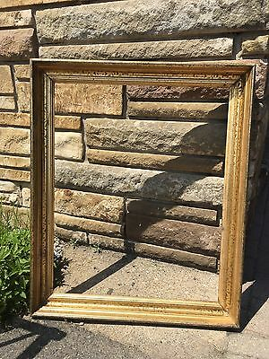 Antique Gilt Frame With Stencil Cove 19th Century 24 By 30 Portrait