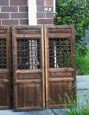 Chinese Antique Wall Wooden  Panel  (pair)